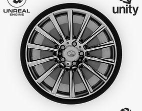 3D asset Wheel Steel-Chrome Alloy Rim Lexus 19 4
