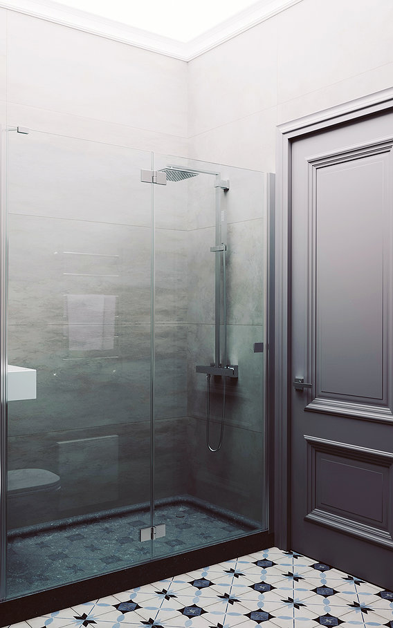 Visualization of a bathroom