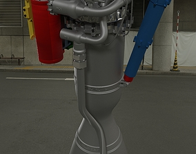 3D model Rutherford Rocket Engine