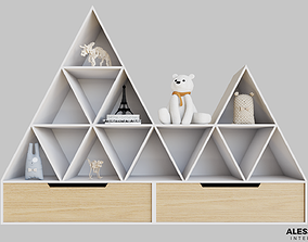 Storage for kids 3D cute
