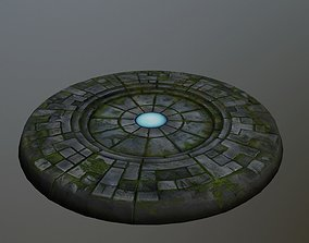 3D model VR / AR ready ancient portal