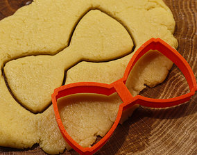 3D print model Tie-Butterfly cookie cutter for