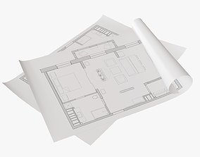 3D Sheets of paper 01