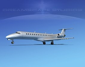 Embraer ERJ-145 Bare Metal 3D model