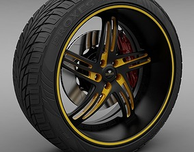 Savini Forged SV-20S Wheel and Tire 3D model