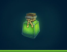 Potion - Poison Low poly game asset low-poly