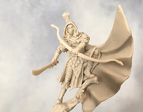 3D print model Wood Elf ranger - 35mm scale tabletop