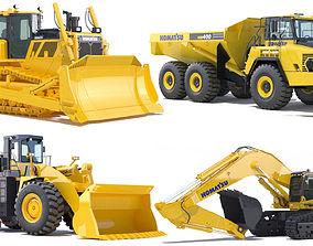 Collection Mining Machines 7 dump 3D model