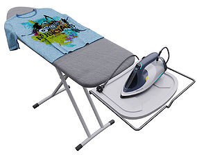 3D iron and ironing board