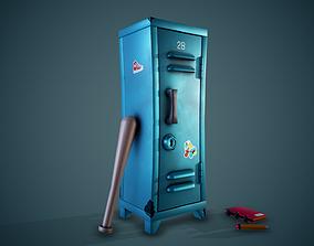 3D asset Stylized Locker - Tutorial Included