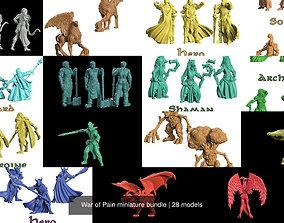 War of Pain miniature bundle 3D