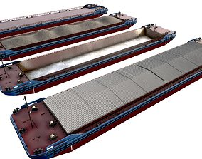 3D model set of barges 85x16