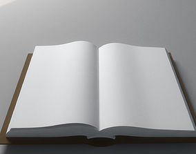 Animated book opening 3D model