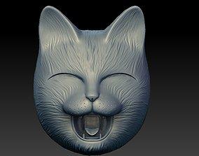 HAPPY CAT Mask 3D print model