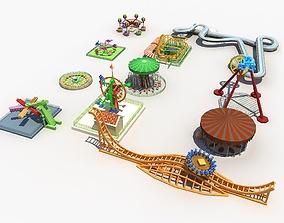 slide 3D Amusement Park Equipment