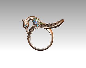 3D printable model bird ring feather