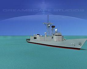 3D FFG-13 USS Morison Perry Class Frigate