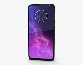 3D Motorola One Zoom Cosmic Purple