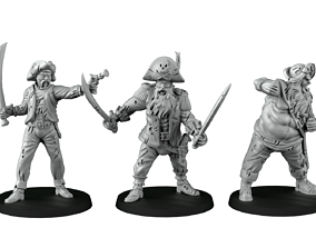 Pirate crew 3D printable model
