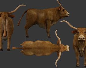 rigged bull 3d