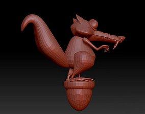 Ice Age Scrat cartoon character statue 3D model
