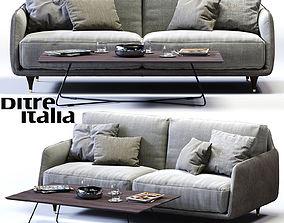 Ditre Italia ELLIOT 2-er Maxi Sofa 3D asset