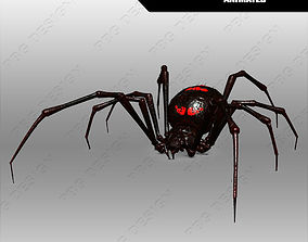 3D model animated Spider