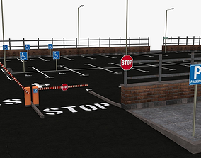 3D asset Parking Lot - Scene