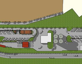 3D Layout for Cement plant entrance layout