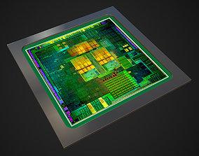 3D model CPU Die