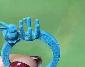 Bunny ring 3D print model