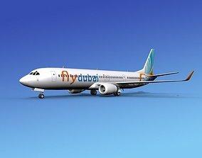 Boeing 737-900ER FlyDubai 3D