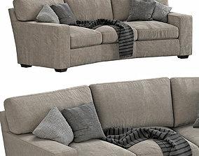 Arhaus Brentwood Square Wedge Sofa 3D
