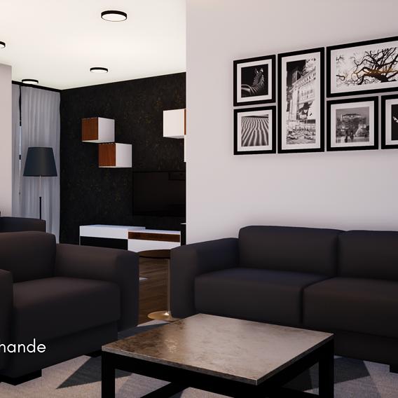 Contemporary Interior Design of Living Room