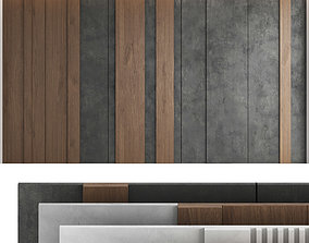 3D Decorative wall panel set 39