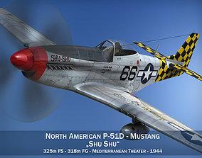 North American P-51D Mustang - Shu Shu 3D model aircraft