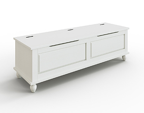 3D model HORNSUND Bench white stained