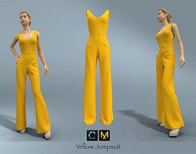 Yellow Jumpsuit 3D model