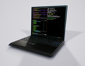 Lowpoly Thinkpad Laptop - Game ready PBR 3D model