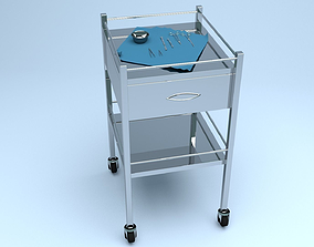 MEDICAL CART WITH SURGICAL EQUIPMENT 3D