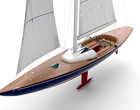 yacht Eagle 44 3D model holland