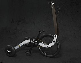 3D model wheel Halfbike