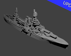 US New York Class Battleship 3D printable model
