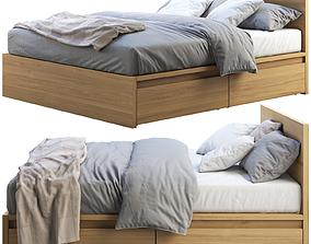 3D model Ikea Malm bed 2