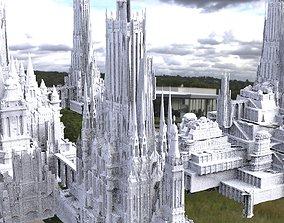 3D model Asgardian City of the Gods Kitbash