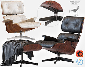 ray 3D model Eames Lounge Chair