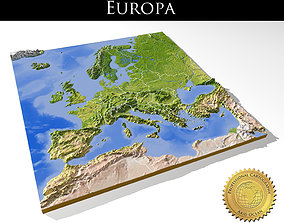 Europe High resolution 3D relief maps