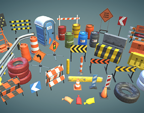 3D asset Construction prop sets