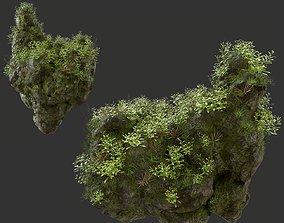 3D model HD Floating Mossy Rock 05 191205