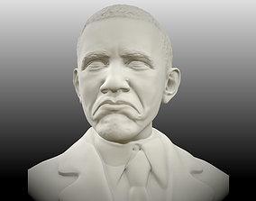 bust Obama not bad meme sculpt 3D print model